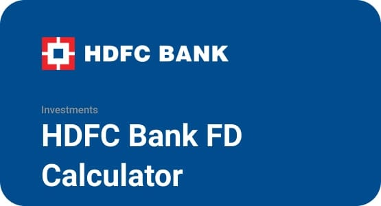 HDFC Bank FD Calculator Thumbnail