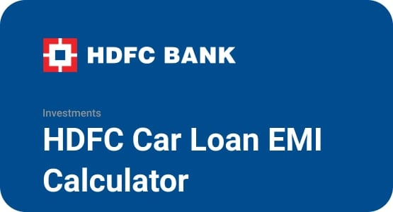 HDFC Car Loan EMI Calculator Thumbnail