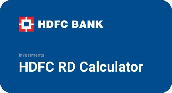 HDFC RD Calculator Thumbnail